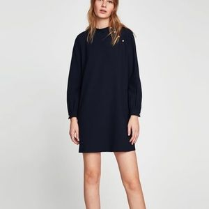 NWT Zara Shift Dress with Pearl Detail